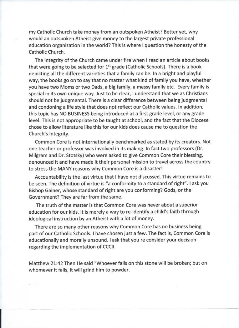 Letter to Bishop Vicki