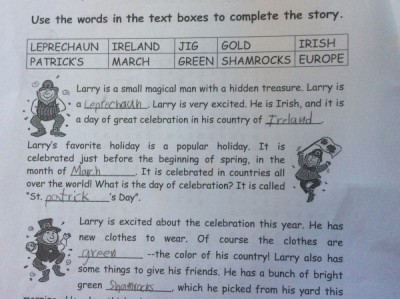 St Pattys Day - Story Page